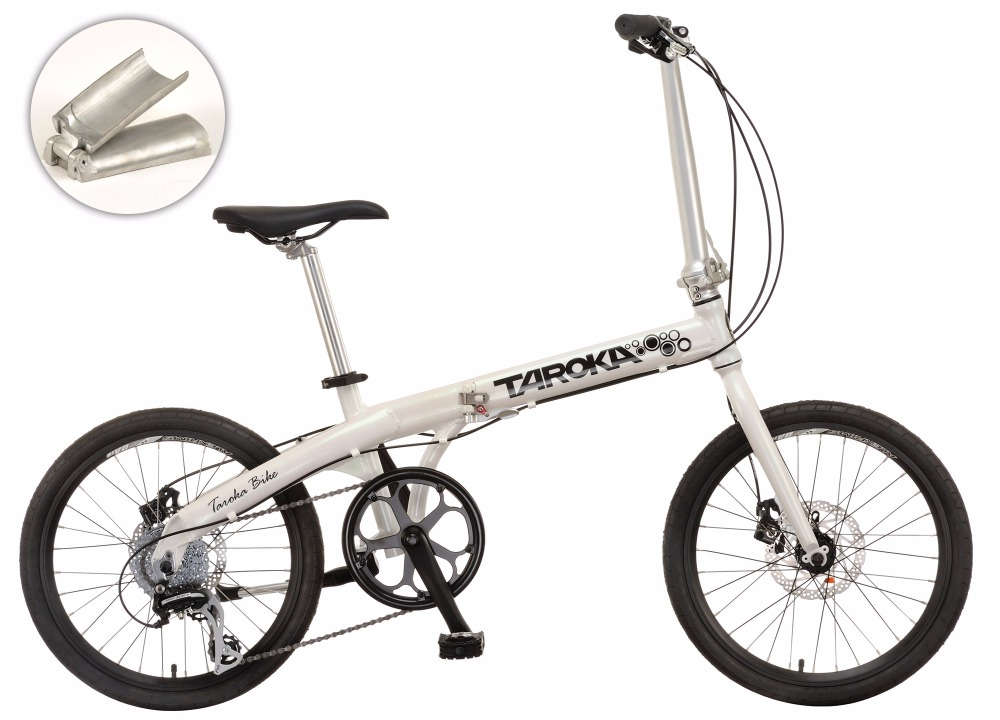 FOLDABLE 20 INCH ALUMINUM FRAME FOLDING BIKE WITH ACERA 8 SPEED