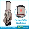 HELIX Customize Nylon leather golf stand bag Unique golf bag
