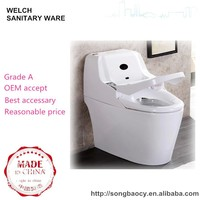 745W bathroom P-trap floor mount intelligent toilet with remote control