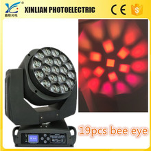 Bee eye led 19pcs moving head wash stage lighting (zoom)