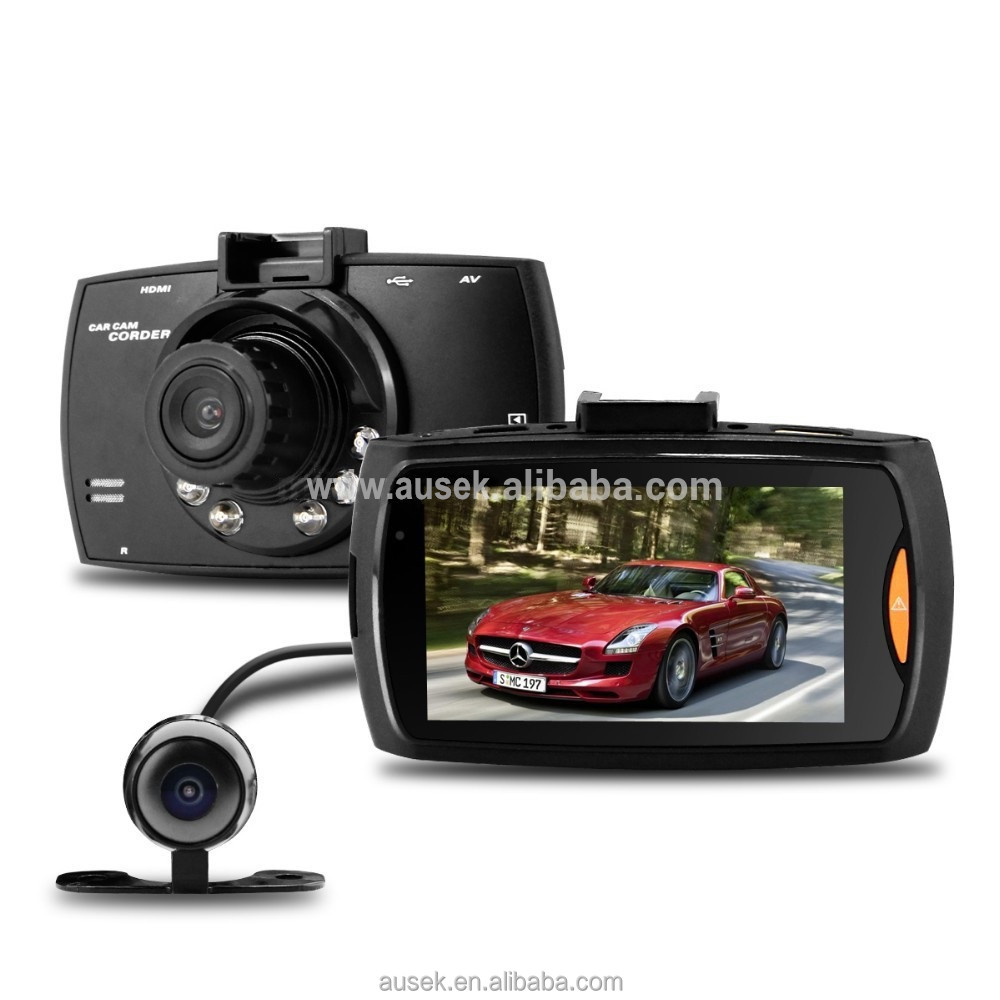 2.7'' inch 1080P dual lens vehicle car camera dvr video recorder dvr G30 new used auto parts car part