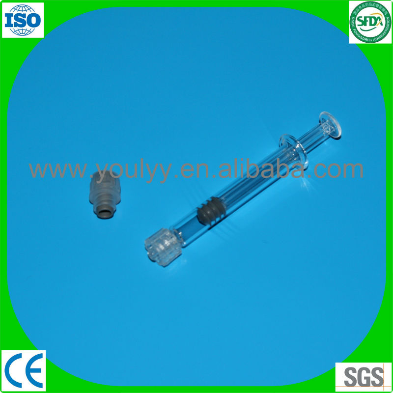 glass prefilled syringe with rigid tip cap