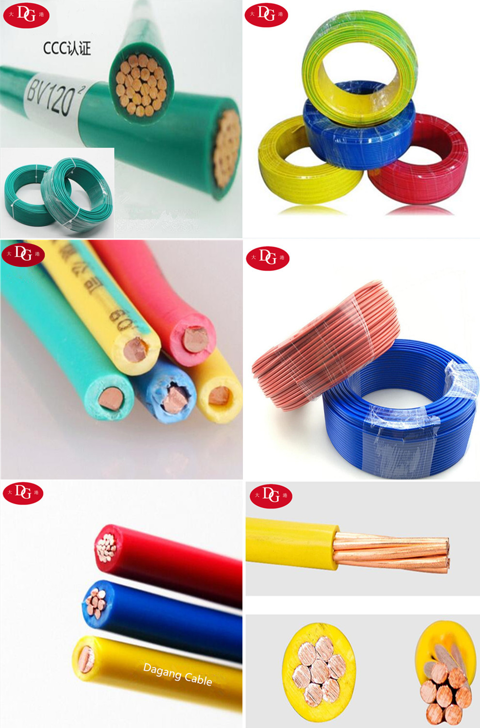 Pvc Insulated House Wiring Electrical Cable 100 Pure Copper Conductor