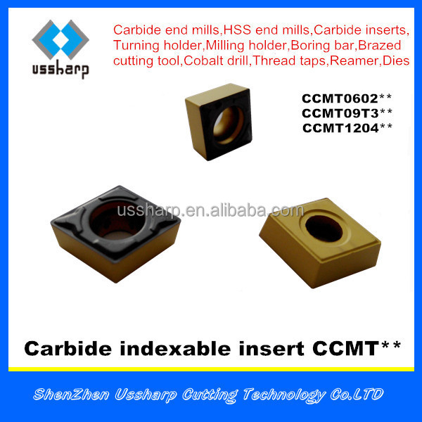 carbide insert tip CCMT made in China with brand USSHARP