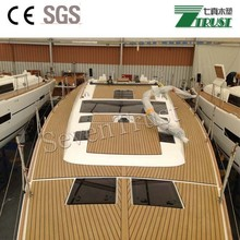 Brown Teka PVC for boat/yacht/ship deck