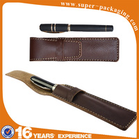 Wholesale pocket travel single custom display leather pen case for pens