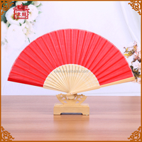 2016 Wholesale Price Chinese Red Silk Fan Dance for wedding favors GYS917- 4
