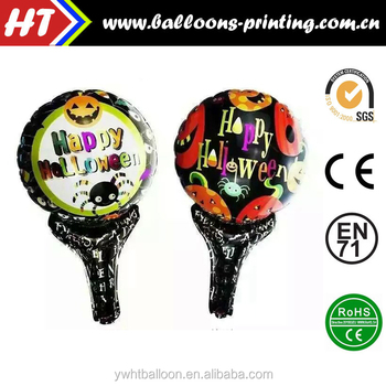 [New] arrival Hand Holder Halloween foil balloon for party decoration Clapper stick balloon