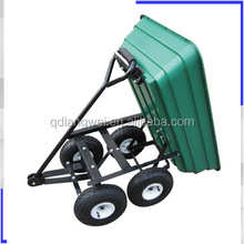 125L poly four wheel tipping cart