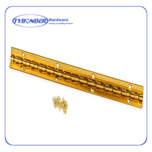 "2.4 x 8.7 x 1.6 ""Brass Plated Small Piano Hinge"
