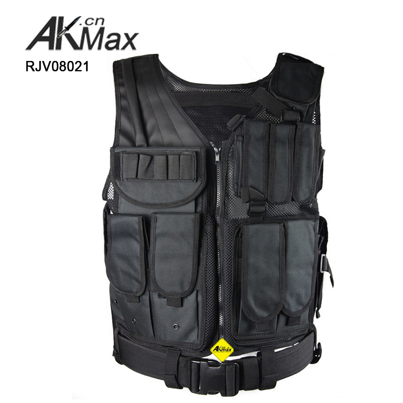Black military gear army tactical combat vest