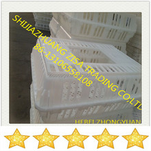 75X55X28cm large door plastic transport cage for poultry chicken