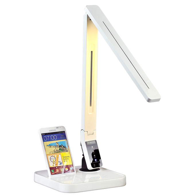 Touch control panel office color change table lamp led with USB Samsum docking four CCT nine level brightness auto off timer