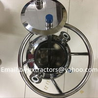 Stainless Steel Round Bottom BHO Extractor Recovery Tank With Siphon Diptube