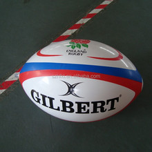 cheap inflatable rugby ball with logo printed for promotional