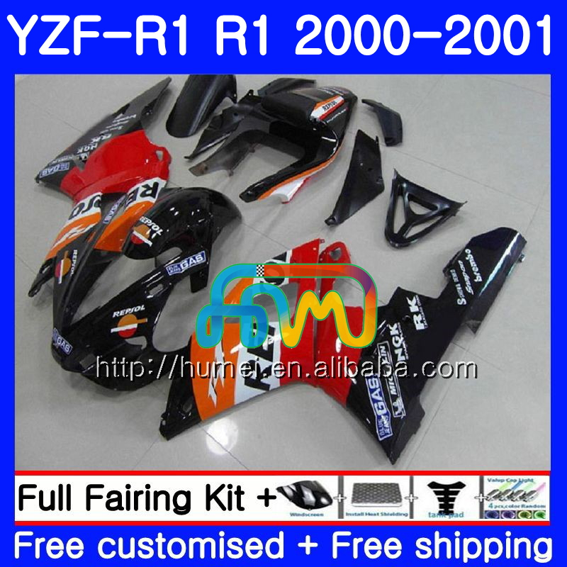 Bodywork For YAMAHA YZF 1000 Repsol orange YZF-<strong>R1</strong> 2000 2001 Body 98HM3 YZF1000 YZF R 1 YZFR1 <strong>00</strong> <strong>01</strong> YZF-1000 YZF <strong>R1</strong> <strong>00</strong> <strong>01</strong> Fairing