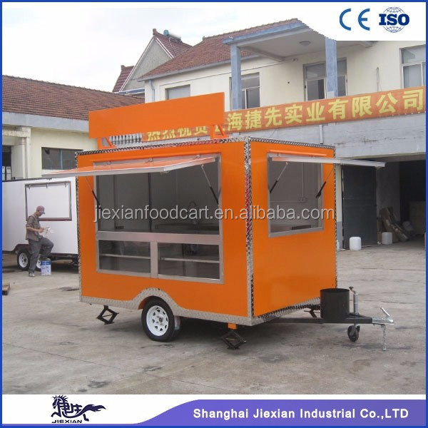 JX-FS280 Most Popular Used Food Cart/Food Trailer/Truck Rolled Fried Ice Cream Machine on promotions