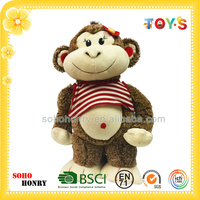 Custom monkey stuffed toy of funny monkey series