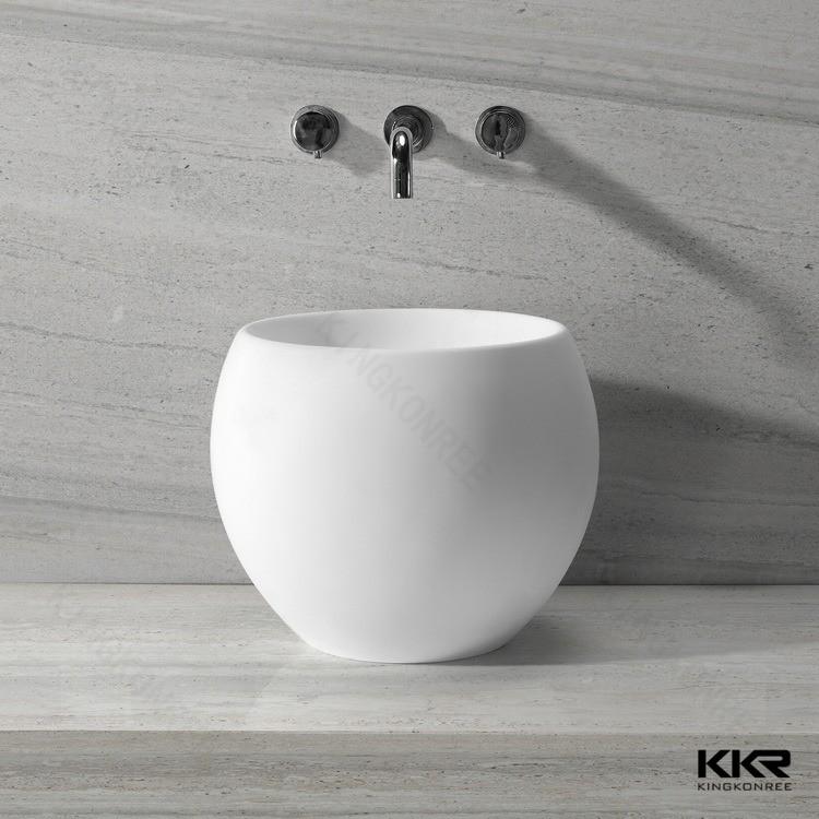 Piccolo rotondo pedicure pietra artificiale angolo lavandino del bagno-Lavelli del bagno-Id ...