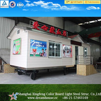 good quality prefab kits home/prefabricated movable trailer tiny House/mudular container house with wheels