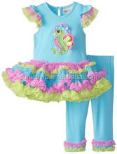 birthday pettiskirt dress baby clothing toddler girls boutique outfits clothing with ruffle pants