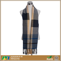 Women Casual Simple Style Multicolor Plaid Knit Scarves Cheap