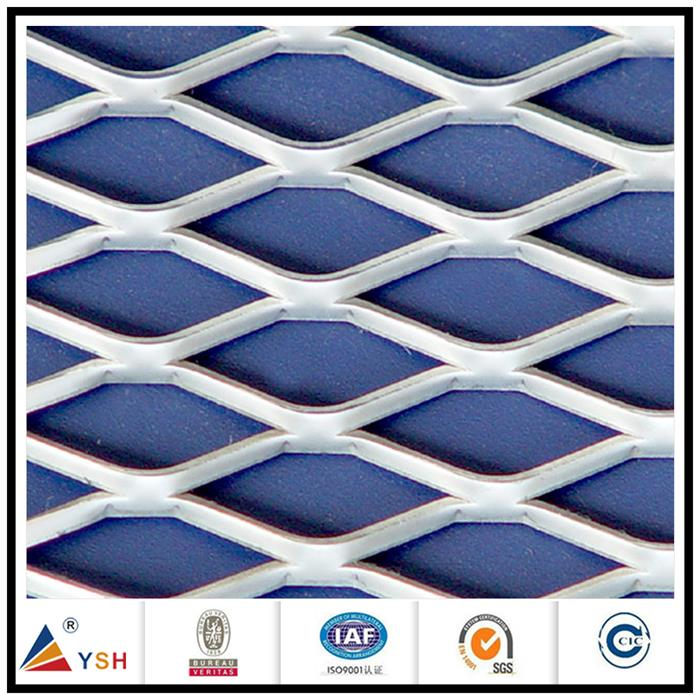 Galvanized spray paint heavy duty diamond small hole expanded metal mesh