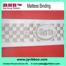 Polyester jacquard webbing for bed mattress banding
