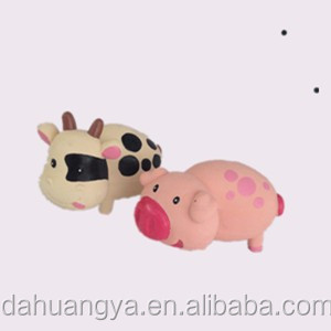 Pink Plastic Latex Pig for Kids .Soft Cartoon Squeaky Animal Toys