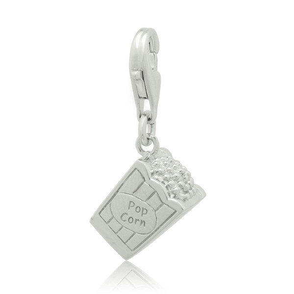 925 sterling silver lovely movie popcorn charm pendant