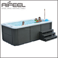 CE Approved Balboa system freestanding acrylic outdoor pool hot tub combo spa whirlpool massage swimming pool for sale