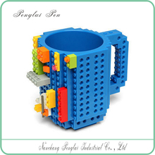 2017 DIY Block Puzzle Mug for kids Christmas Gift/Build-On Brick Mug Lego Type Building Blocks Coffee <strong>Cup</strong>