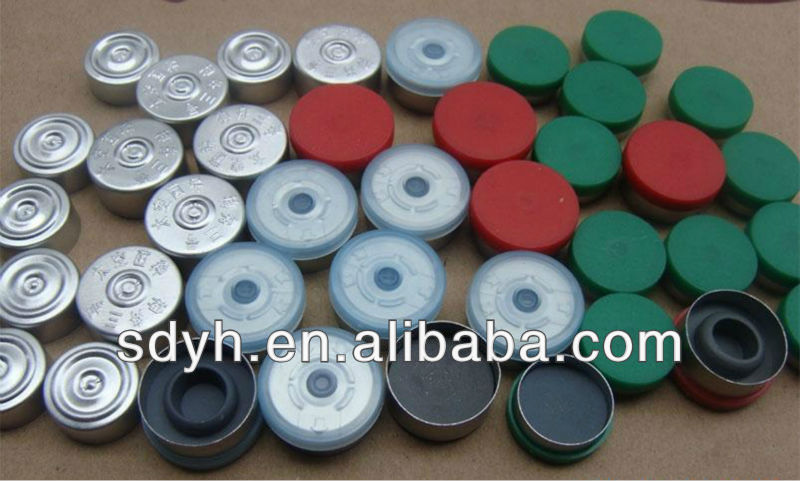 Rubber stoppers,Aluminum plastic caps for glass vial