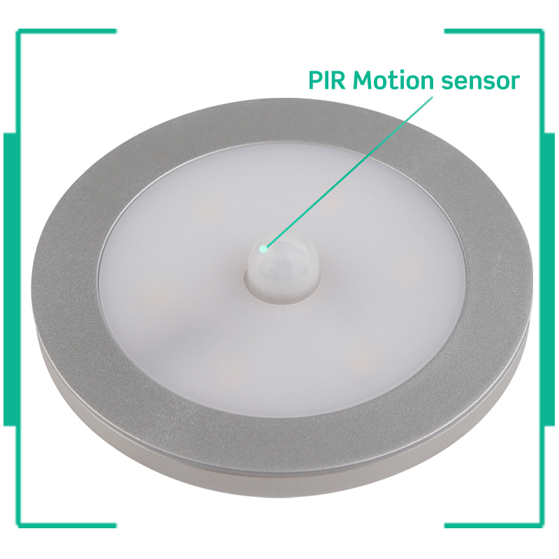 120v dimmable led mini flat surface mounted under cabinet puck lighting