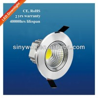 SYW 2014 COB 3W 5W 9W 12W Rotatable recessed downlight harga lampu down light