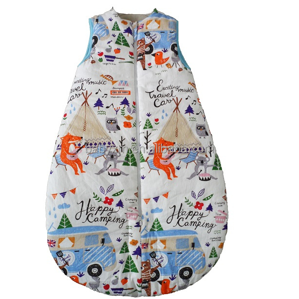 cotton printing baby sleeping bag pattern for autumn and winter
