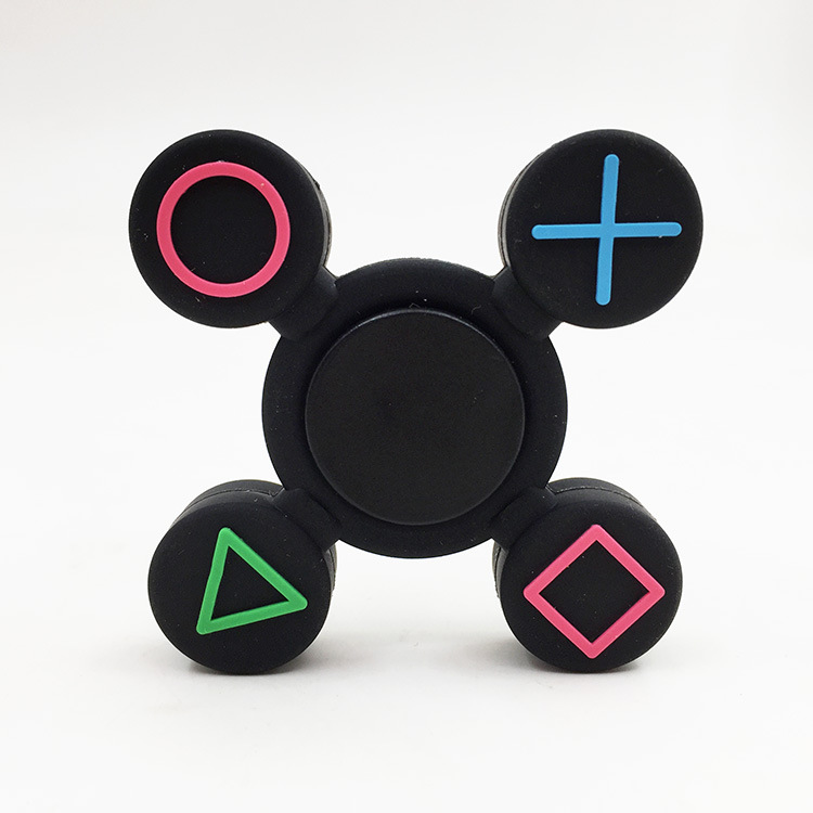 new hand spinner Game controller QUA symbol silicone spinner toy