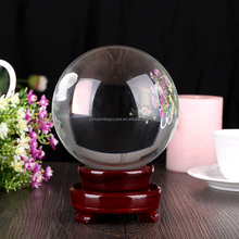 10cm Fengshui Clear Crystal Ball with/Without Base for Home Decoration
