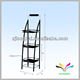 Heavy duty durable floor standing black metal 3 tiers book display rack
