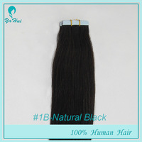 "16"" 50g 20pcs/pack Natural Black #1B Wholesale Hot Selling PU Hair Skin Weft Hair Tape in Hair Extensions"