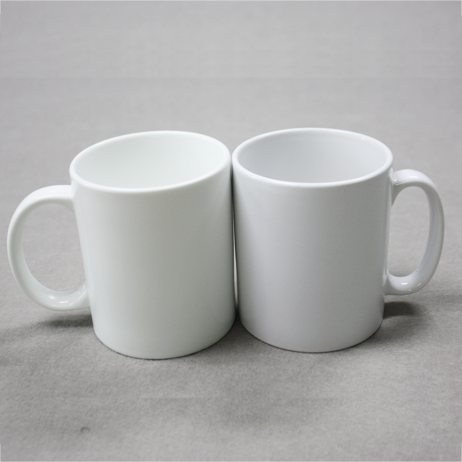 11 oz plain white ceramic bulk coffee mugs for sublimation printing