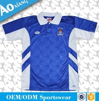 blue and white color promotional design polo tshirt wholesale