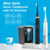 IPX7 manufacturer Patented lithium battery Rechargeable Electric Toothbrush with UV sanitizer /sterilizer Kit SG986UV
