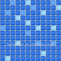 23*23 Blue crystal glass mosaic for swimming pool mosaic wall tile in Guangzhou Foshan