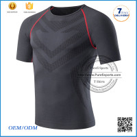 Wholesale Short Sleeve Fitness Blank Compression T Shirts/blank t-shirt/dry fit t shirt