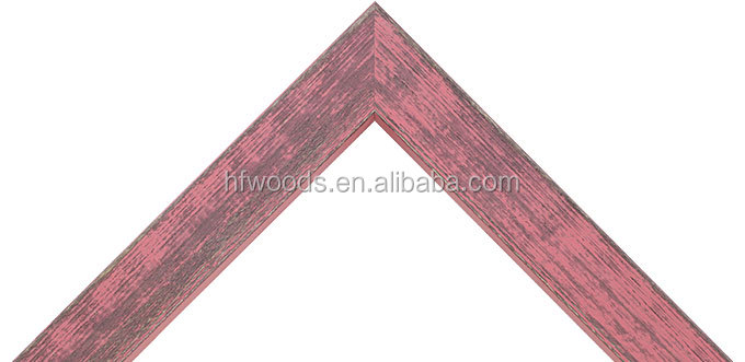 pine pink timber picture frame for house decoration