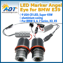 E87/E39 M5/E60 M5/E61/E63/E64/E65/E66/E83 X3/E53 X5 Canbus car LED markers auto Angel Eye Headlight 90W High Power