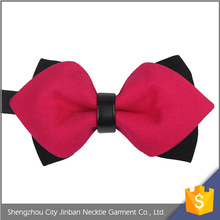 Professional cheap custom logo jacquard Polyester elastic bow tie