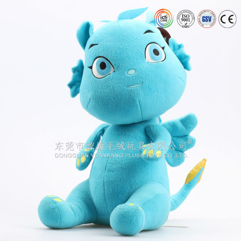 plush material with embroidery child soft toy dragon