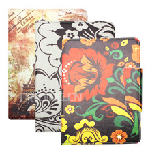 Soft tiger stripes blanket leather case for Amazon kindle fire Hdx 7 flip stand cover case